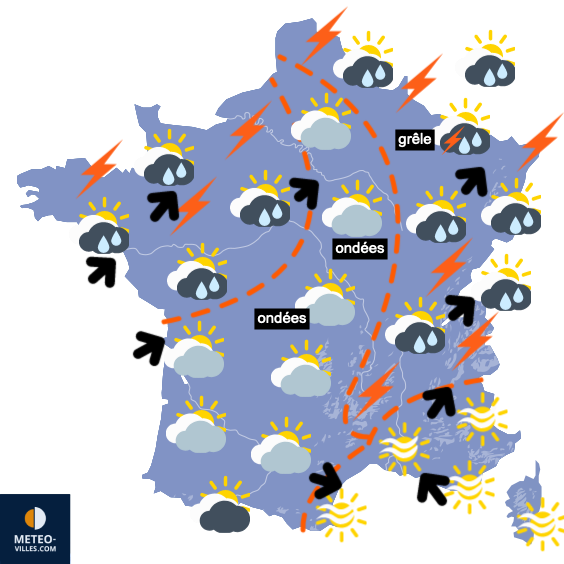 Carte de prévisions du temps