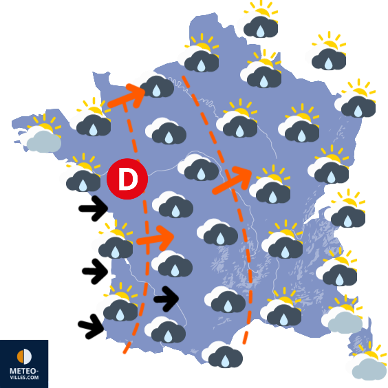 Carte de la situation météo