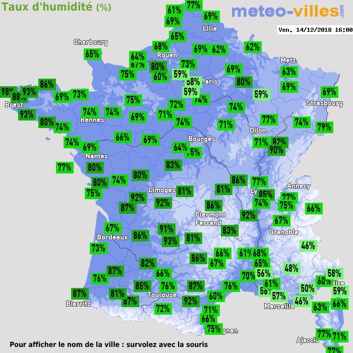 Météo France humidité