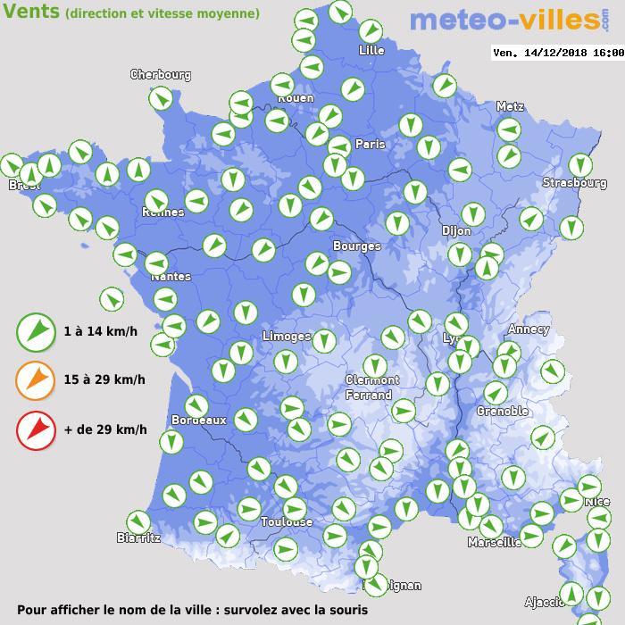 Météo France vent direction