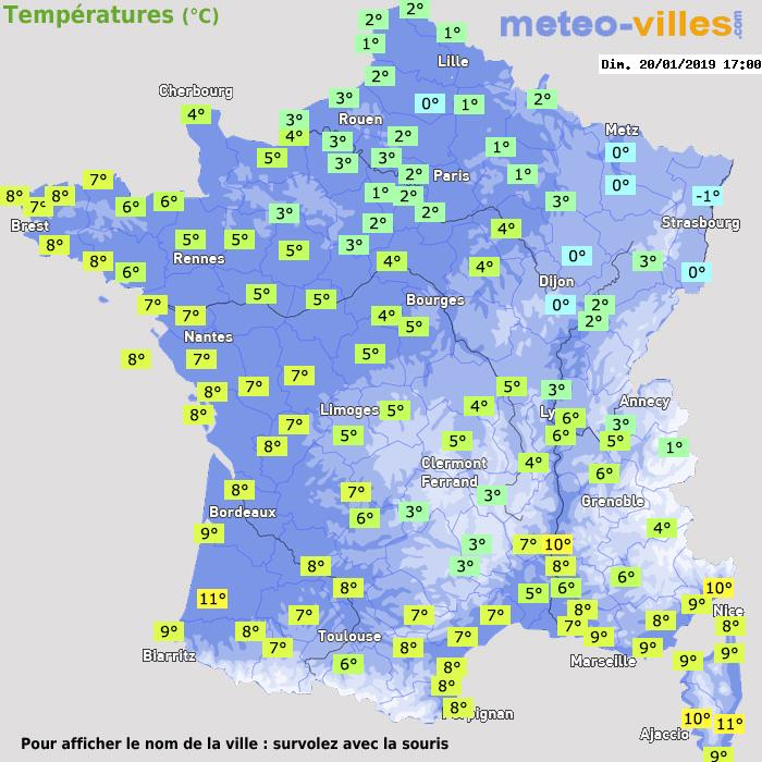 Observations en France