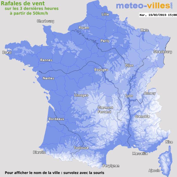 Météo France vent rafales