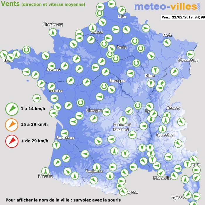 Météo France vent direction