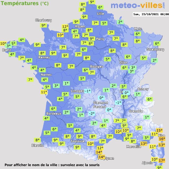 Météo France températures